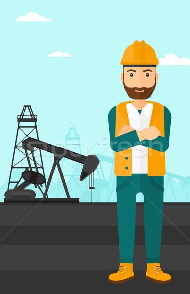 Cnfident oil worker. Stock photo © RAStudio