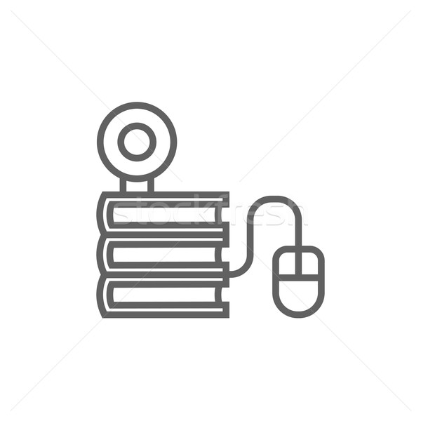 Online education line icon. Stock photo © RAStudio