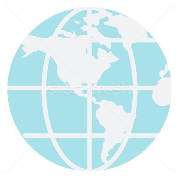 World map and globe Stock photo © RAStudio