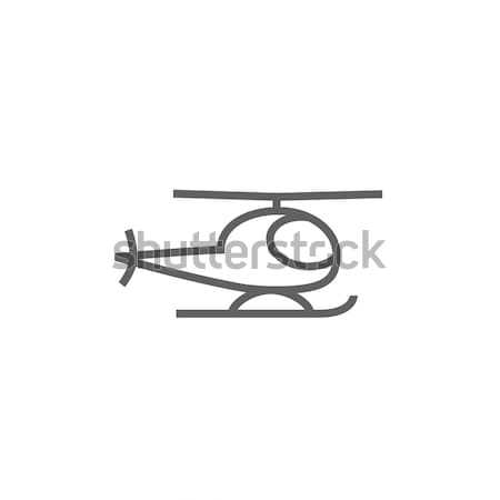 Helicóptero linha ícone teia móvel Foto stock © RAStudio