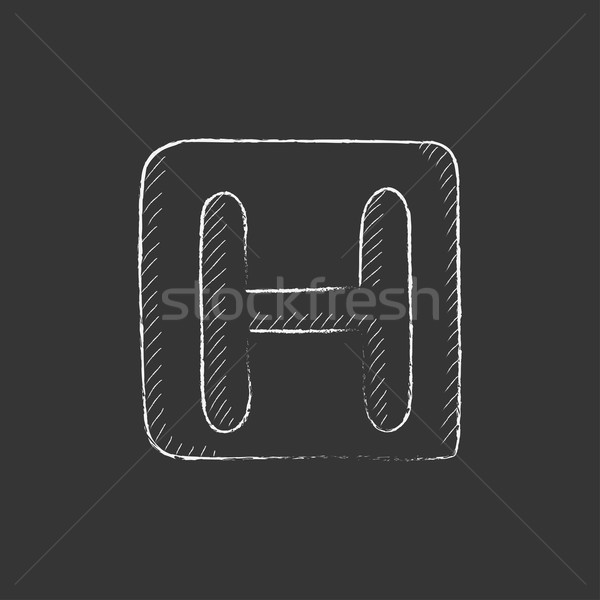 Hospital sign. Drawn in chalk icon. Stock photo © RAStudio