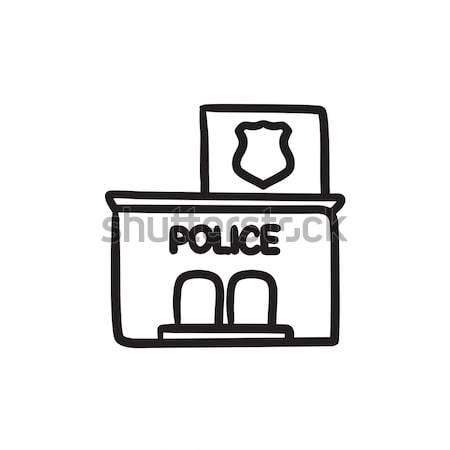 Police station  sketch icon. Stock photo © RAStudio