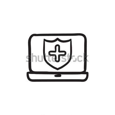 Computer security sketch icon. Stock photo © RAStudio