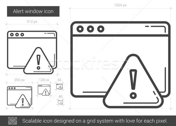 Alert window line icon. Stock photo © RAStudio