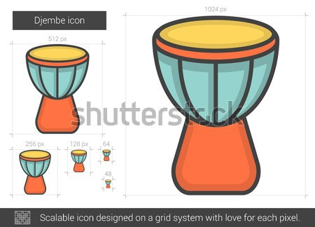 Djembe line icon. Stock photo © RAStudio