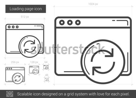 Stock photo: Loading page line icon.