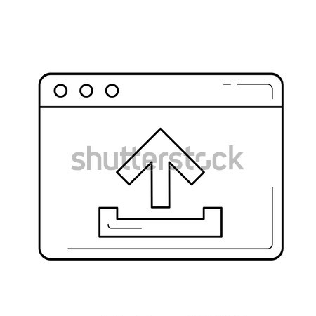Upload file line icon. Stock photo © RAStudio
