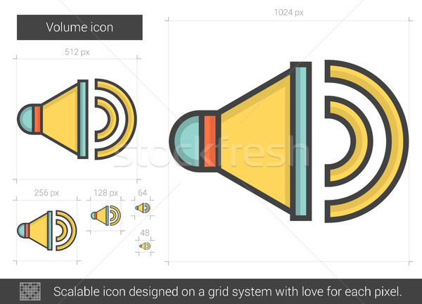 Volume line icon. Stock photo © RAStudio