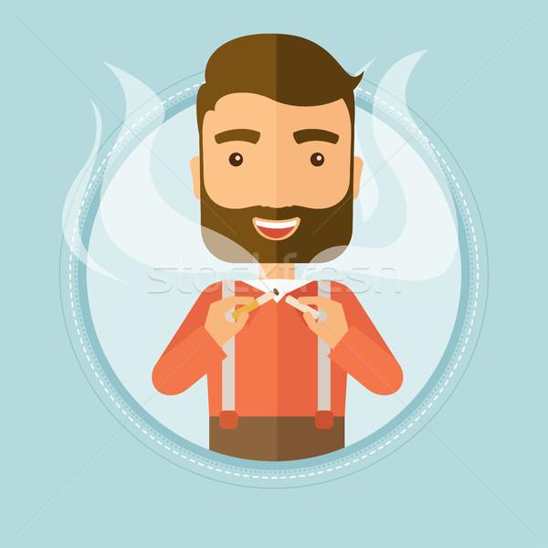 Man quit smoking vector illustration. Stock photo © RAStudio