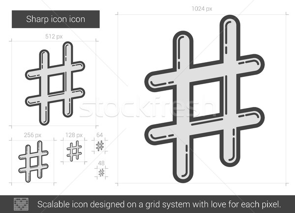 Sharp line icon. Stock photo © RAStudio