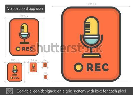 Voice record app line icon. Stock photo © RAStudio