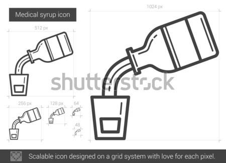 медицинской сироп линия икона вектора изолированный Сток-фото © RAStudio