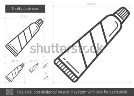 Tandpasta lijn icon vector geïsoleerd witte Stockfoto © RAStudio
