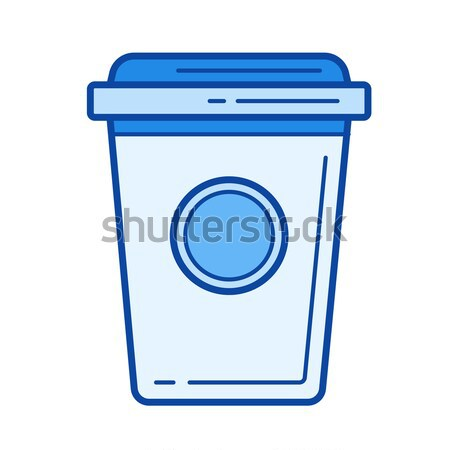 Coffee to go line icon. Stock photo © RAStudio