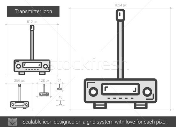 Transmitter line icon. Stock photo © RAStudio