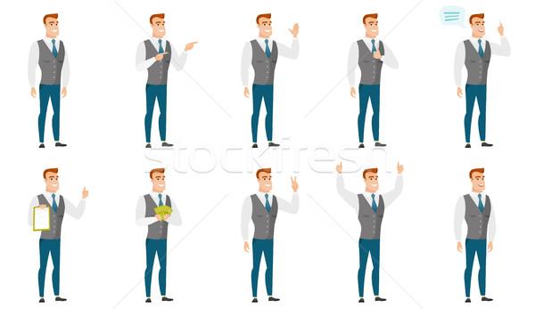 ベクトル セット イラスト ビジネスの方々  小さな ビジネスマン ストックフォト © RAStudio