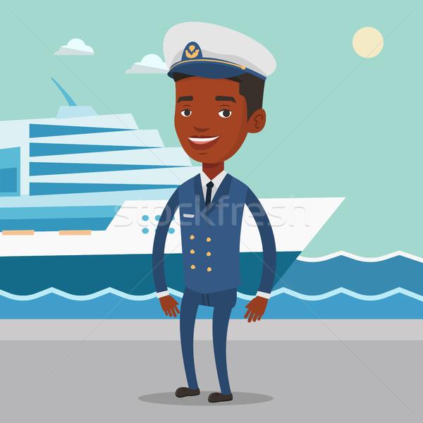 Afryki statku uniform portu stałego morza Zdjęcia stock © RAStudio