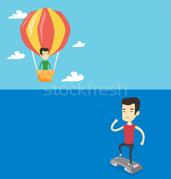 Dos estilo de vida banners espacio texto vector Foto stock © RAStudio
