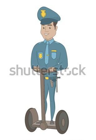 Ranny młodych hiszpańskie policjant złamana noga kule kalekiego Zdjęcia stock © RAStudio