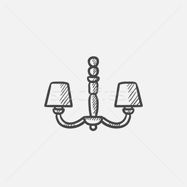 Chandelier sketch icon. Stock photo © RAStudio