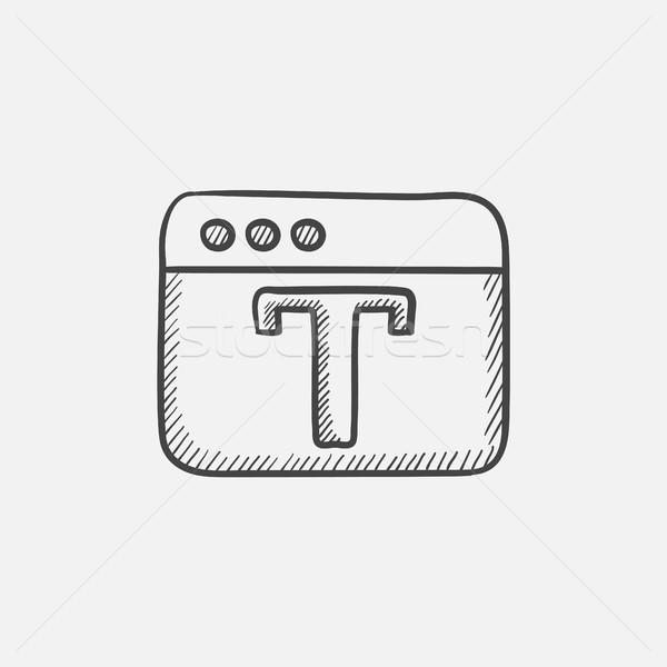 Terv szerkesztő szerszám rajz ikon háló Stock fotó © RAStudio