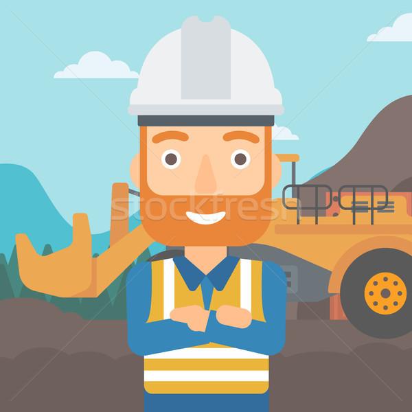 Mijnbouw uitrusting permanente groot mijn Stockfoto © RAStudio