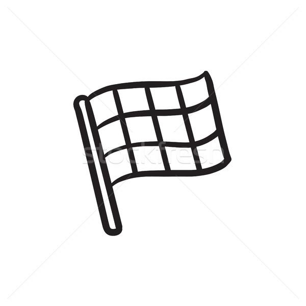 Checkered flag sketch icon. Stock photo © RAStudio