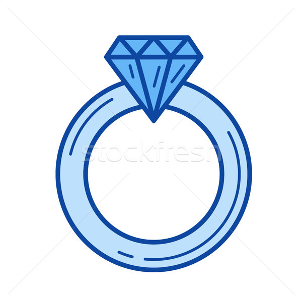 Jewelry engagement ring line icon. Stock photo © RAStudio