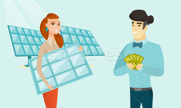 Businessman investing money in green technology. Stock photo © RAStudio