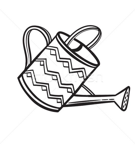 Watering pot hand drawn sketch icon. Stock photo © RAStudio