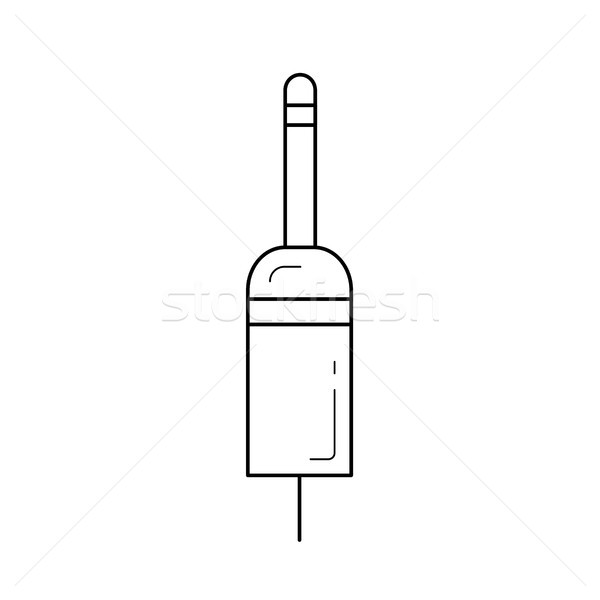 Jack plug line icon. Stock photo © RAStudio
