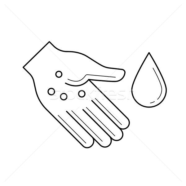 Sanitation, hand washing line icon. Stock photo © RAStudio