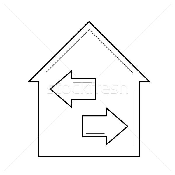 House resale line icon. Stock photo © RAStudio