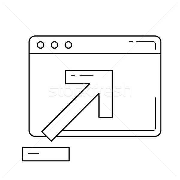 Browser window with upload sign line icon. Stock photo © RAStudio