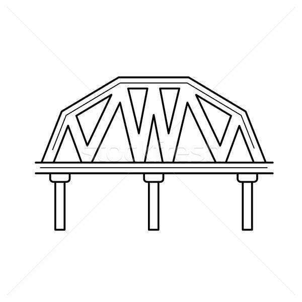 鉄道 橋 行 アイコン ベクトル 孤立した ストックフォト © RAStudio