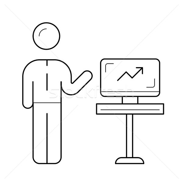 Business coaching vector line icon. Stock photo © RAStudio