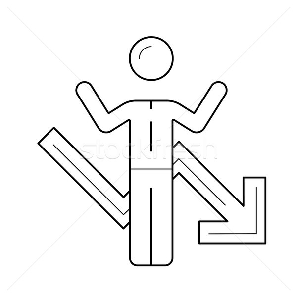 Businessman having business problem line icon. Stock photo © RAStudio