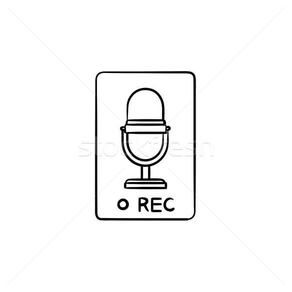 Record button hand drawn outline doodle icon. Stock photo © RAStudio