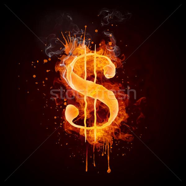 ドル 火災 孤立した 黒 コンピューターグラフィックス 金融 ストックフォト © RAStudio