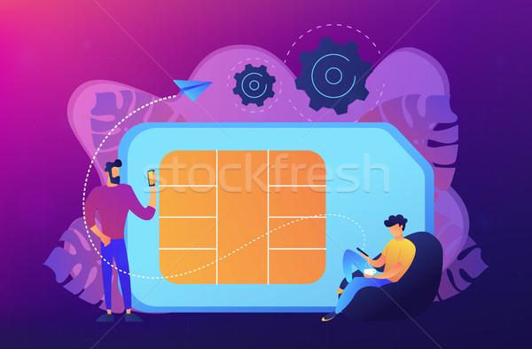 Mobile phones card concept vector illustration. Stock photo © RAStudio