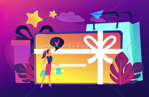 Gift card concept vector illustration. Stock photo © RAStudio