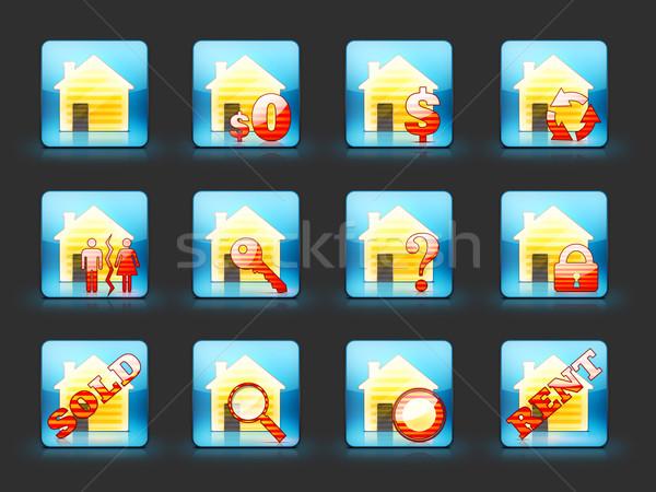 Nieruchomości działalności domu podpisania internetowych Zdjęcia stock © RAStudio