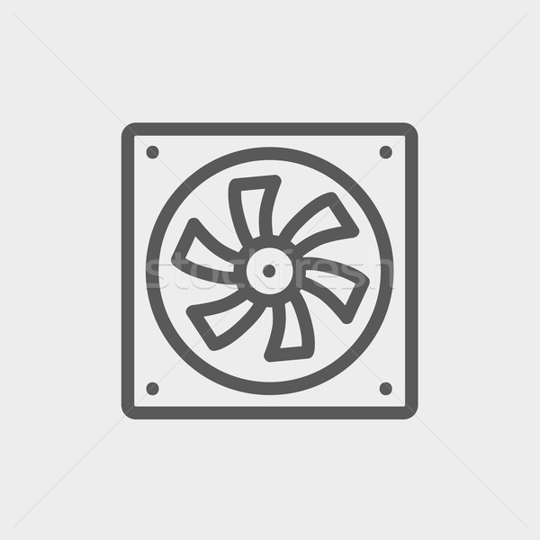Computer cooler thin line icon Stock photo © RAStudio