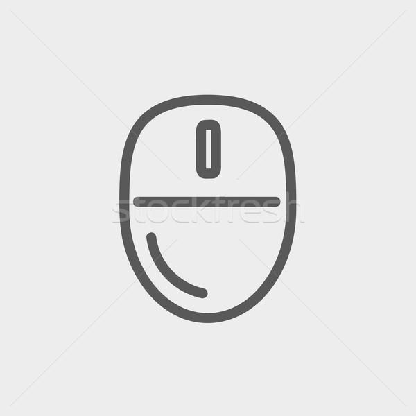 Computer mouse thin line icon Stock photo © RAStudio