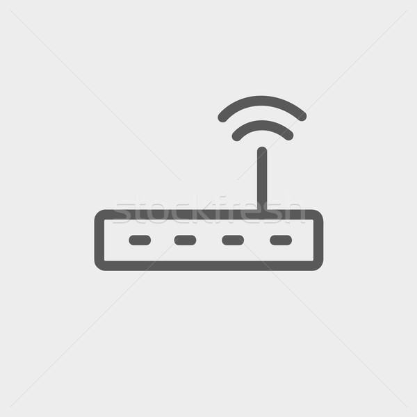 Wifi  router modem thin line icon Stock photo © RAStudio