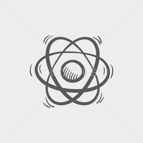Atomo sketch icona web mobile Foto d'archivio © RAStudio