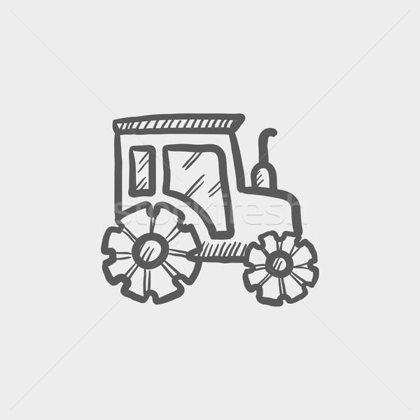 автомобилей эскиз икона веб мобильных рисованной Сток-фото © RAStudio