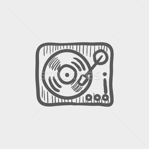 Foto stock: Prato · giratório · esboço · ícone · teia · móvel