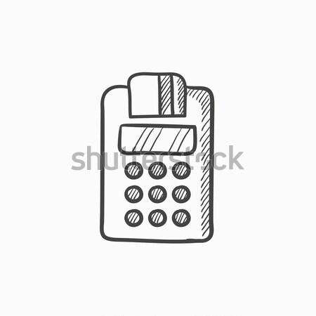 レジ アイコン チョーク 手描き 黒板 ストックフォト © RAStudio