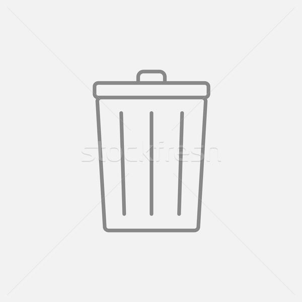 мусорное ведро линия икона веб мобильных Инфографика Сток-фото © RAStudio